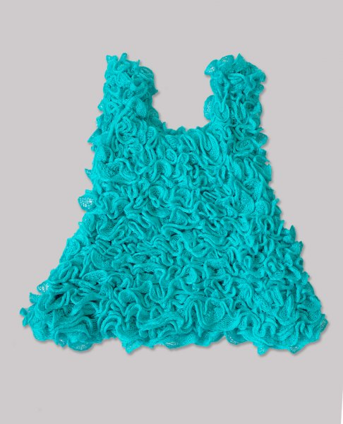 Woonie Handmade Woolen Blue Cincerella Frock for Girls