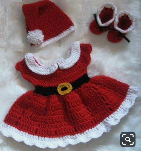 Red X-mass Dress with Cap