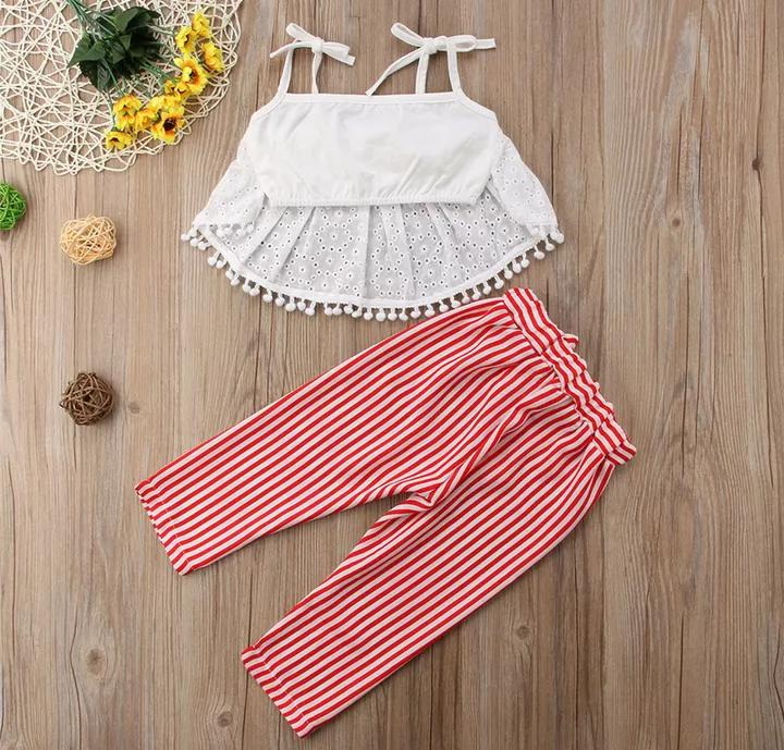 Crop Lace Top with Pants