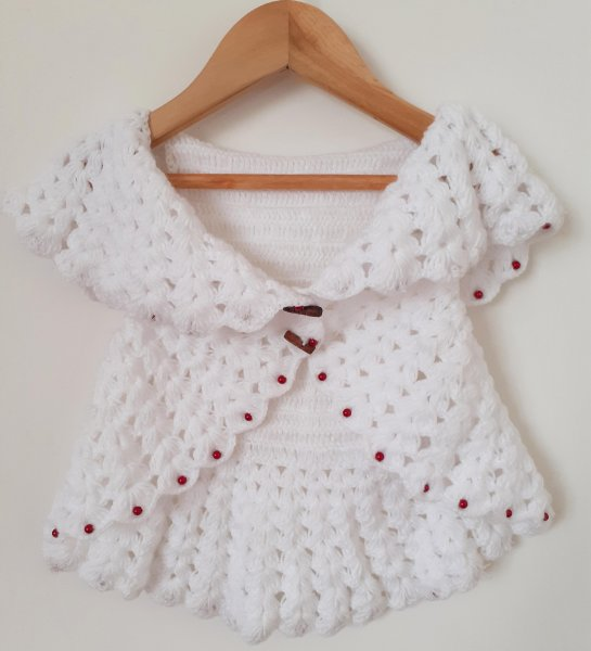 Woonie Handmade White Shrug for Kids