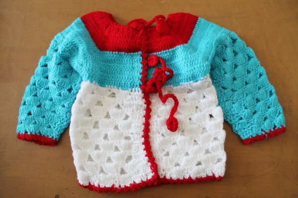 Woonie Handmade Front Openable Sweater for Kids