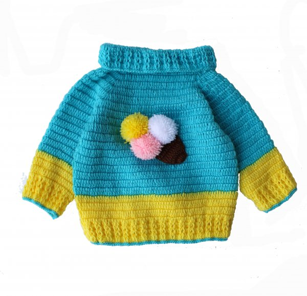 Woonie Handmade Icecream Cone Sweater for Kids