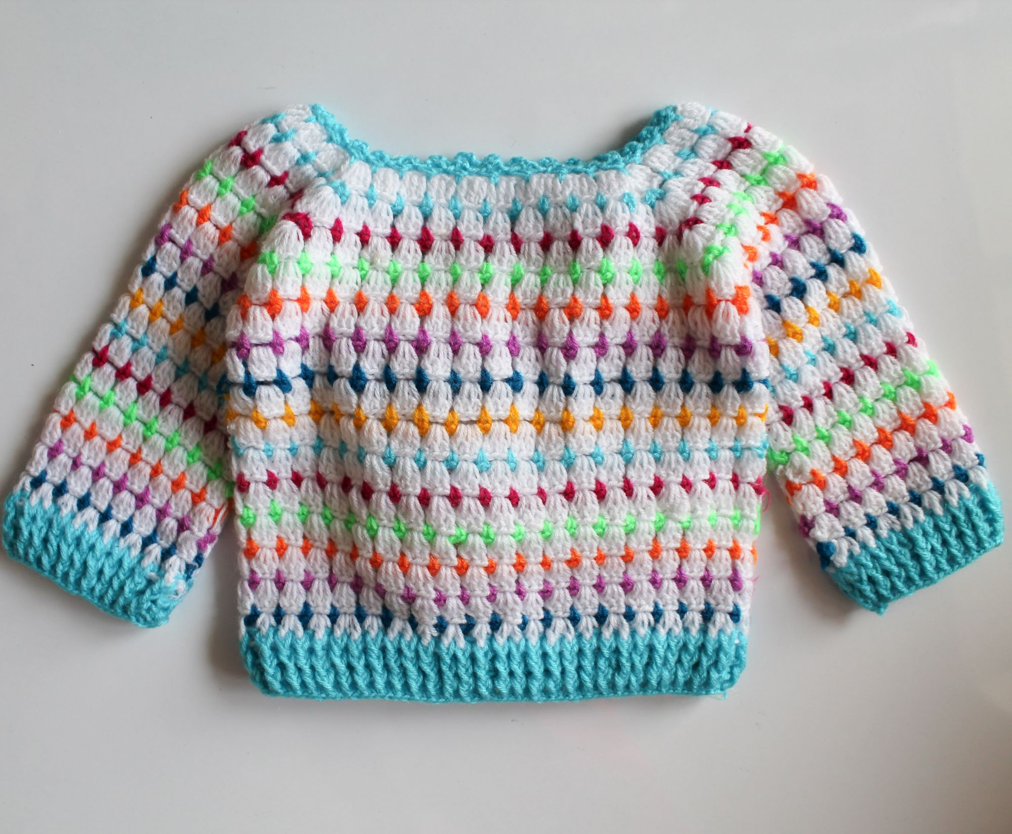 Woonie Handmade Multicolored Sweater for Kids