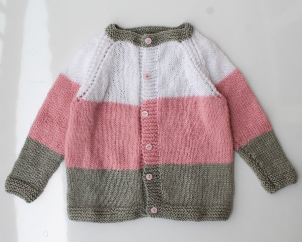 Woonie Handmade Tricolor Sweater for Kids