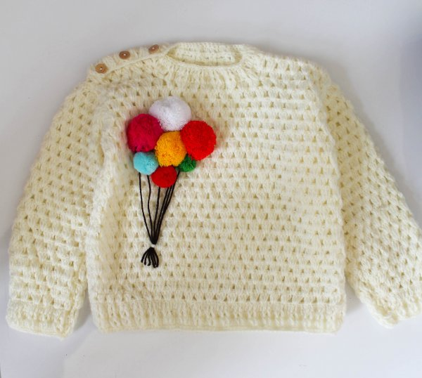 Woonie Handmade Balloon Bunch Sweater for Kids