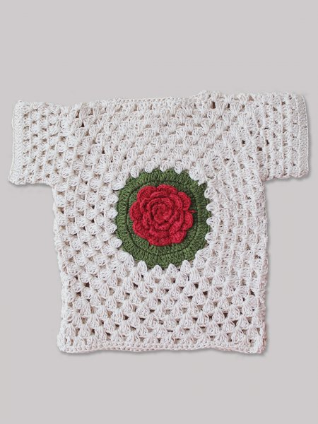 Woonie Handmade Rose Top for Girls