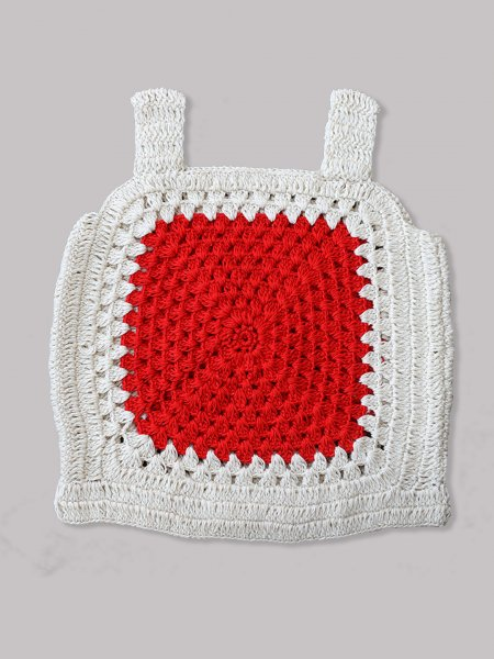 Woonie Handmade Red Panel Top