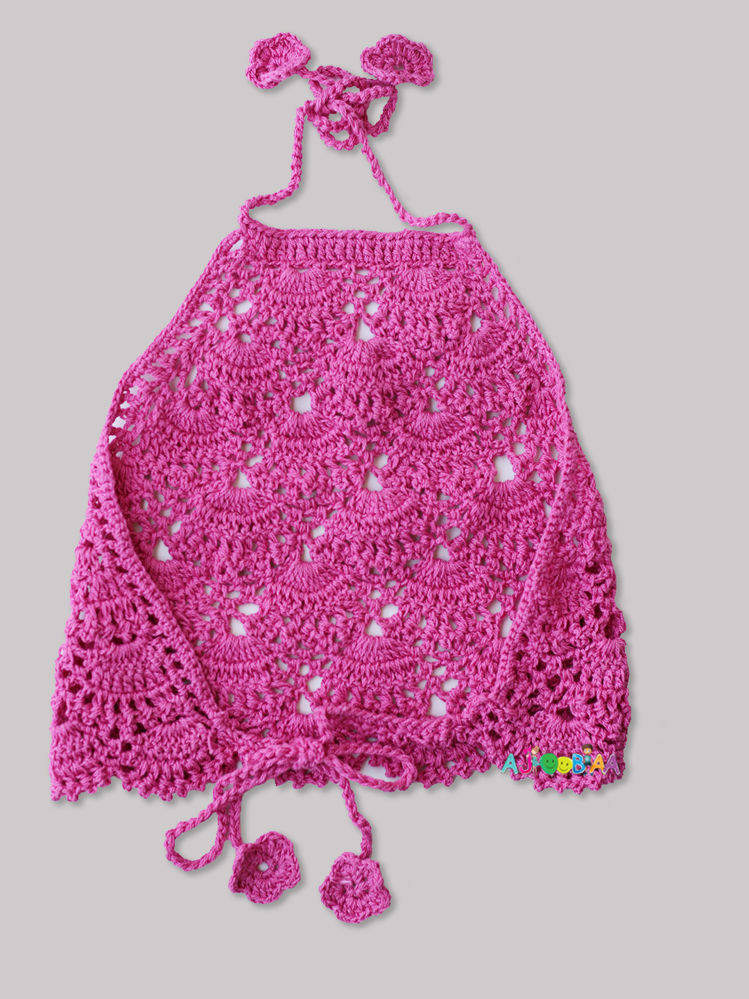 Pink Halterneck Top for Girls