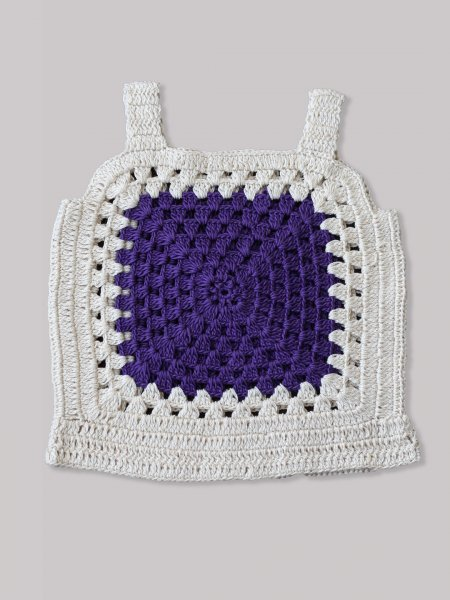 Purple Panel Crop Top for Girls