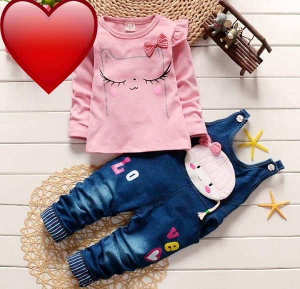 Cute Dungaree In Pink