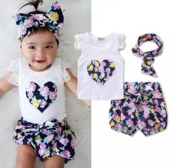 Cute Floral Set with Headband