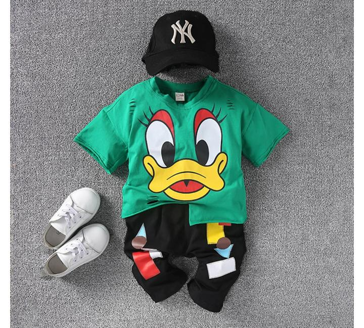 Cute Green Duck Set