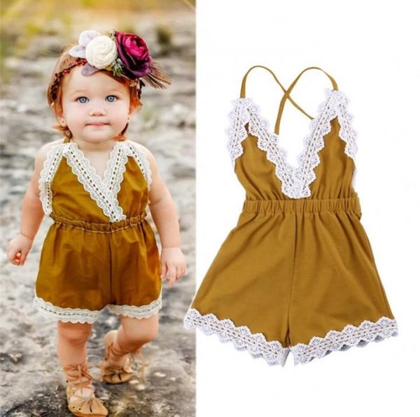 Cute Halterneck romper for Girls