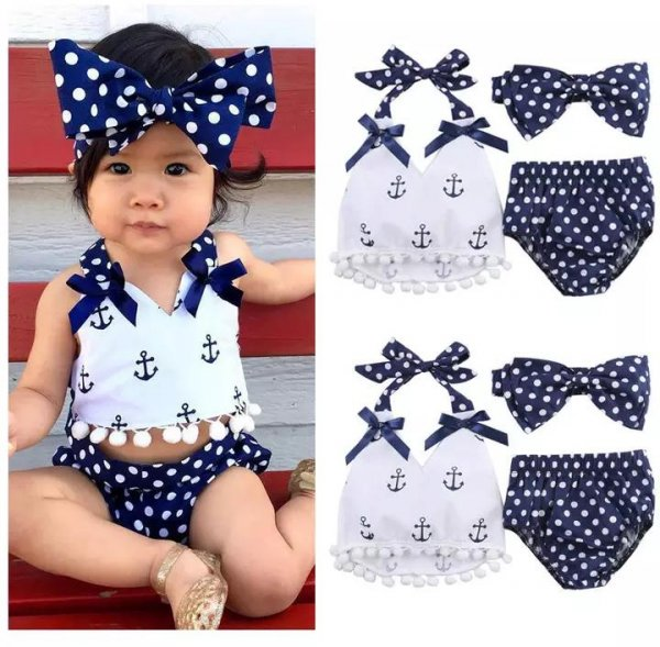 Cute Infant Set With Headband