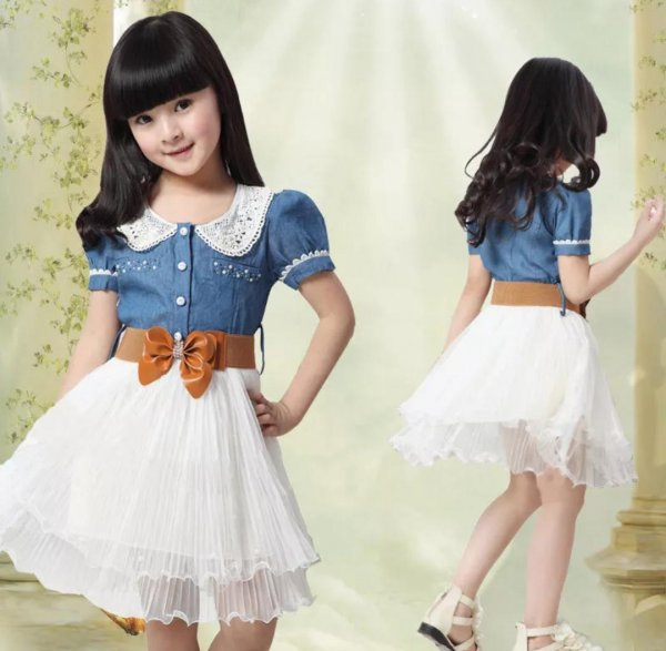 Denim Frock with Belt