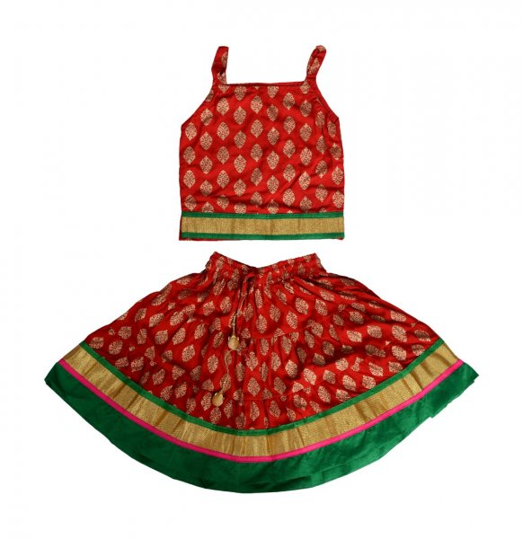 Girls Cotton Lehenga Choli