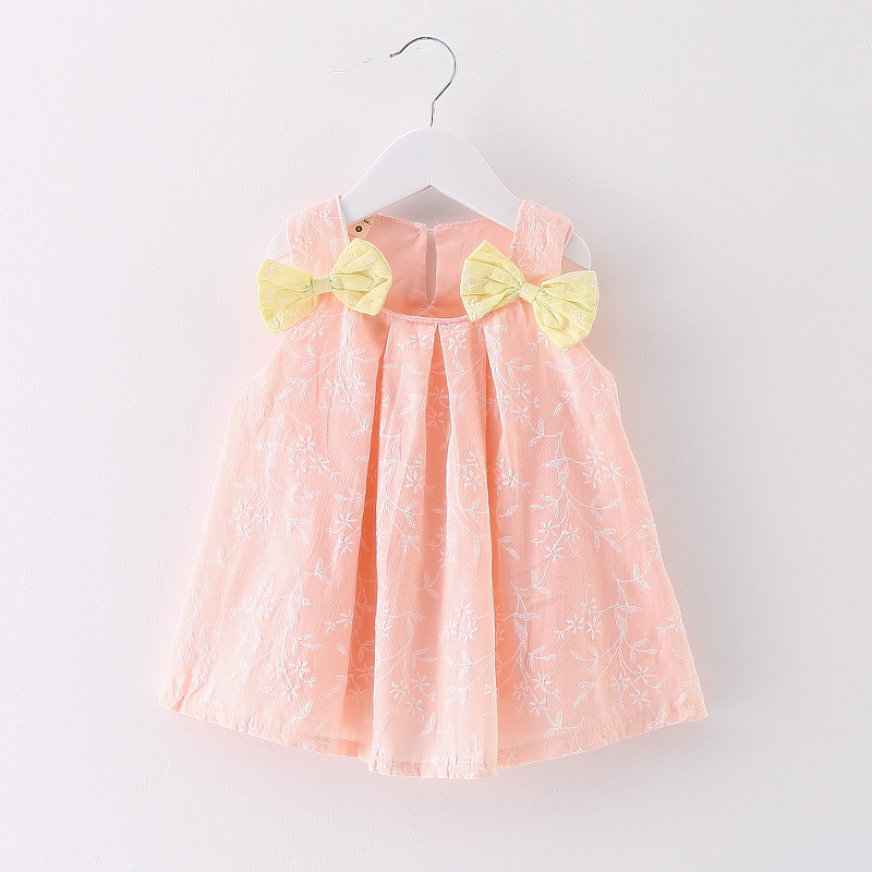 Elegant Peach Frock With Bag