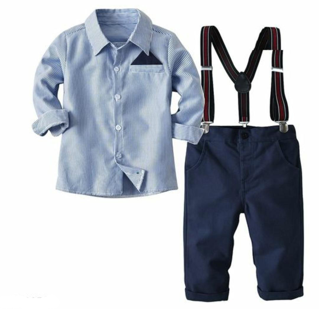 Formal Shirt with Trouser and Suspenders