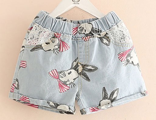 Printed Denim Bottom for Girls