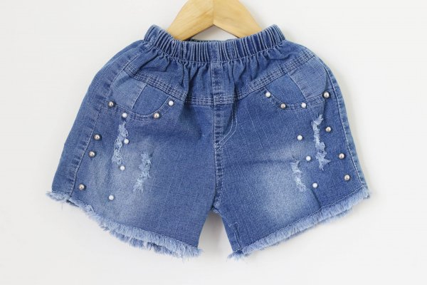Pearl Studded Shorts