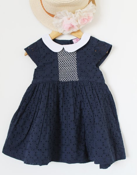 Navy Premium Cotton Frock