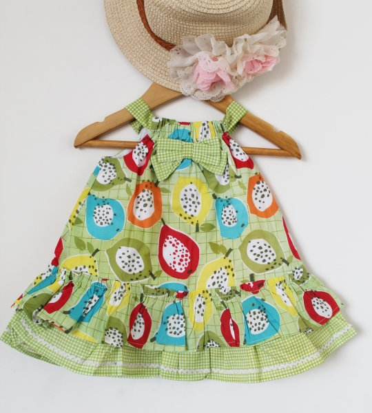 Green Bow Infant Frock