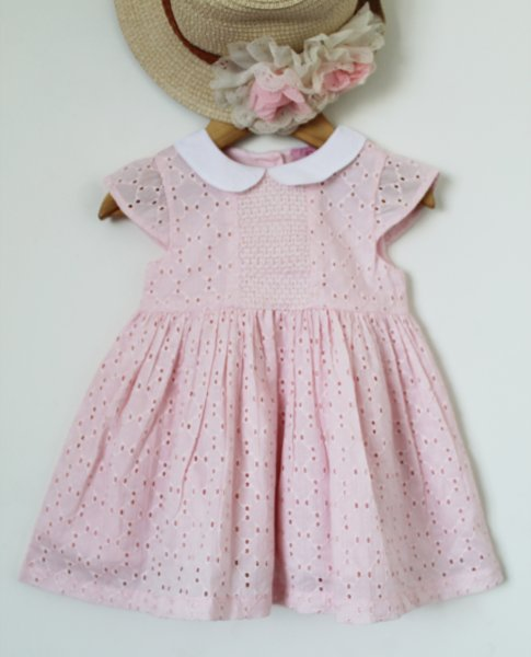 Pink Premium Cotton Frock
