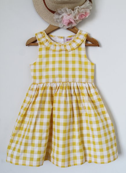 Yellow Checked Frock