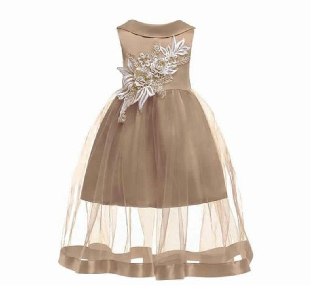 Gold Applique Dress