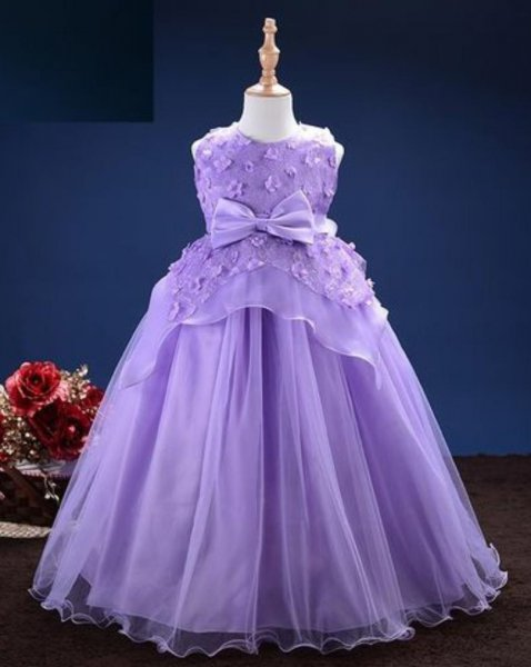Party Purple Full Length Frock