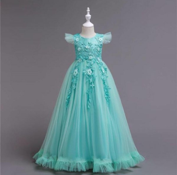 Elegant Green Party Gown