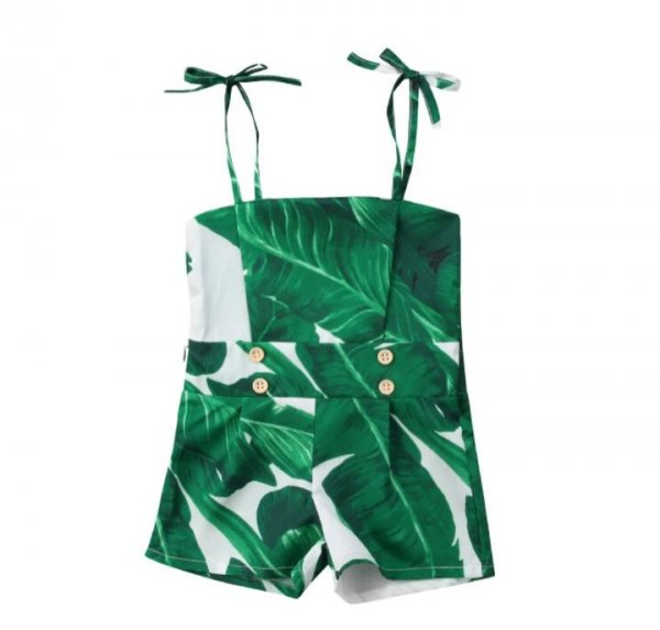 Green Leaves Playsuit
