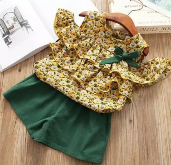 Green Summer Frill Set