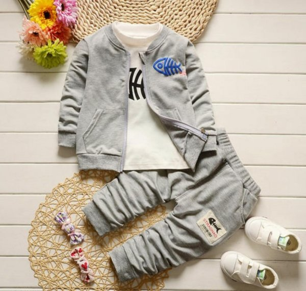 Grey 3 Pc Boys Set