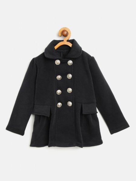 Stylish Black Coat for Girls