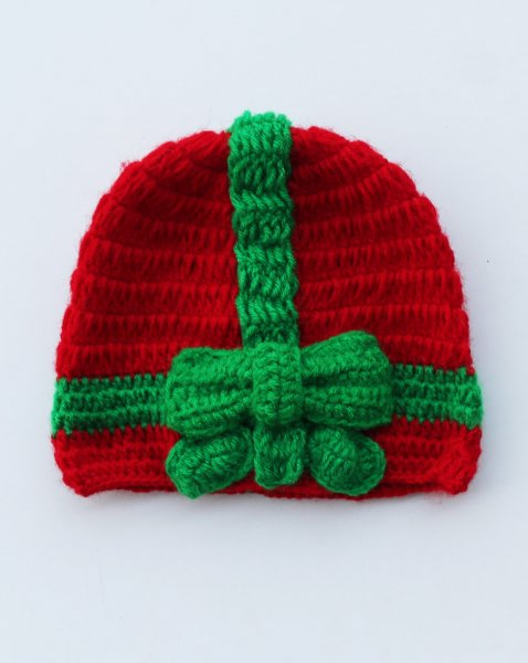 Handmade Crochet Gift Pattern Cap for Kids -  Red | Woonie