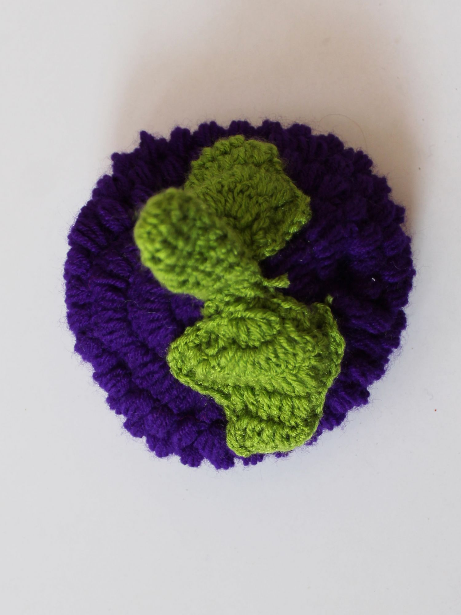 Handmade Crochet Grapes Pattern Cap for Kids -  Purple | Woonie