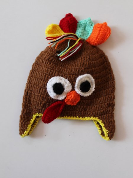 Handmade Crochet Hen Pattern Cap for Kids -  Brown | Woonie