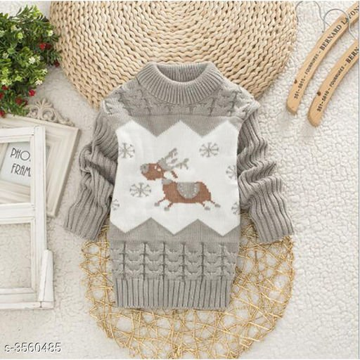 Grey Sweater for Kids