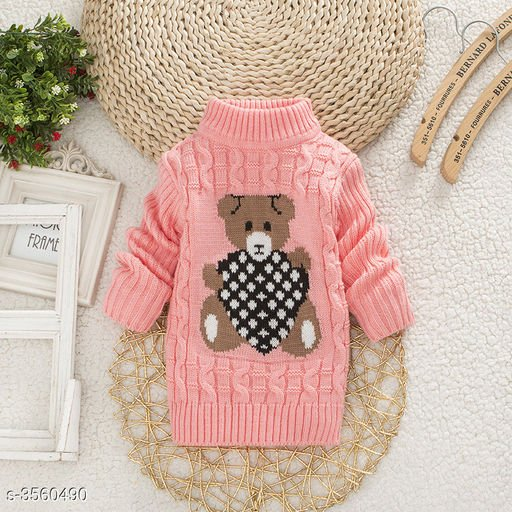 Pink Bear Sweater for Kids