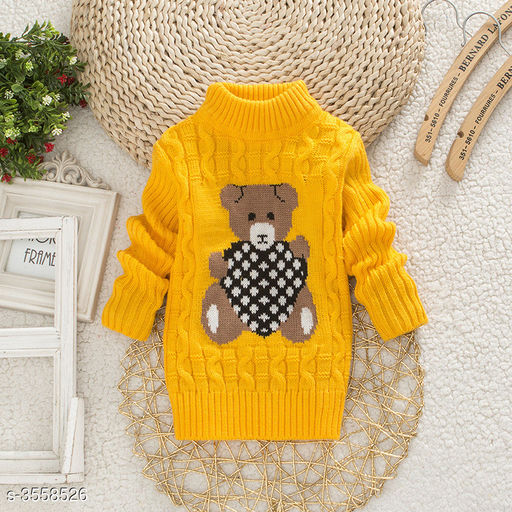 Yellow Bear Sweater for Kids