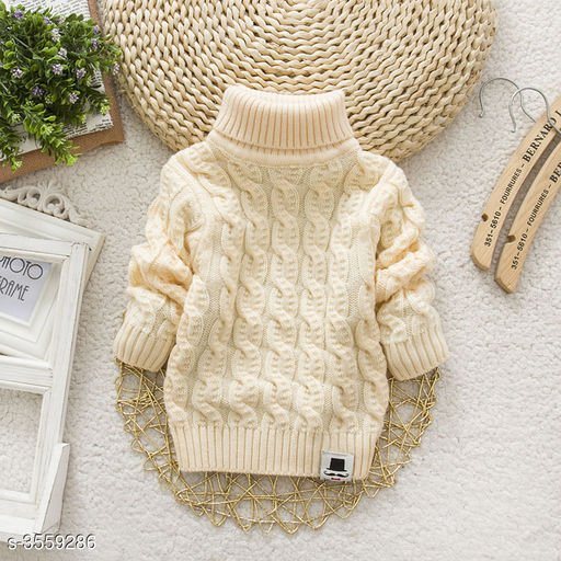 Cream Sweater for Kids