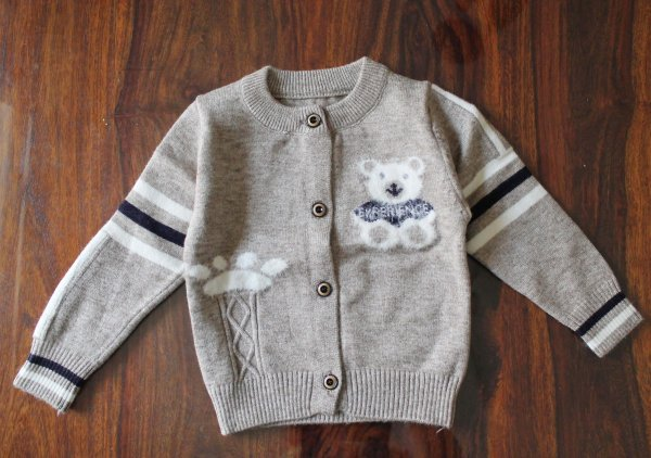 Grey Soft Sweater for Kids