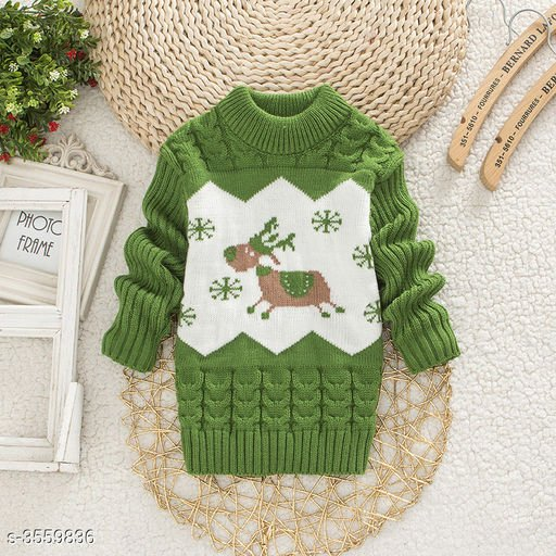 Green Owl Sweater for Kids
