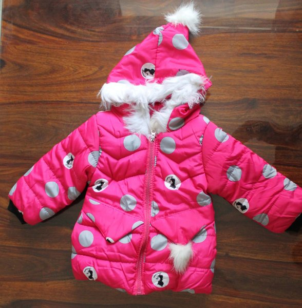 Fuscia Hood Jacket for Kids