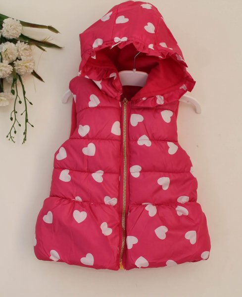 Pink Quilted Hood Jacket for Kids