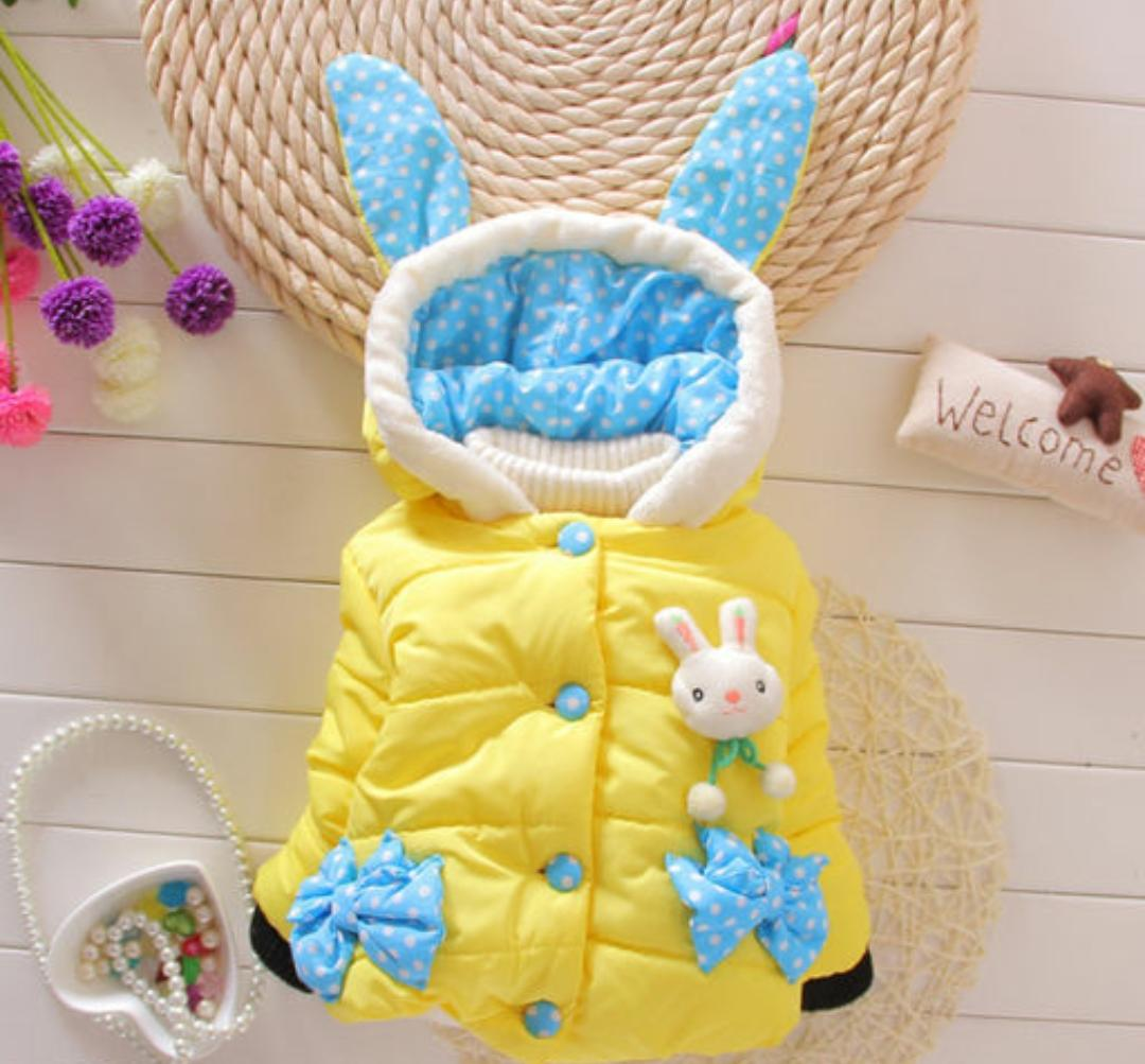 Yellow Quilted Jacket