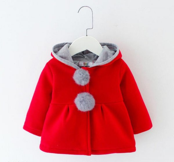 Stylish Red Hood Jacket for Girls