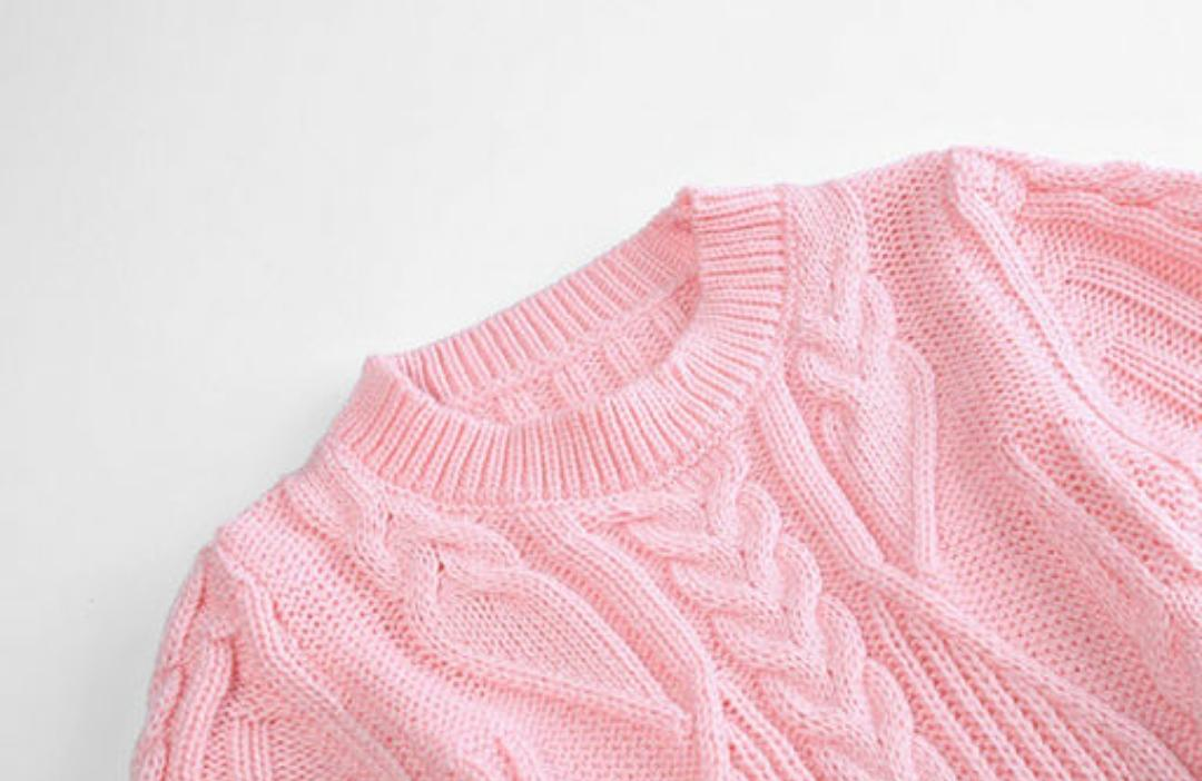 Gorgeous Pink Woolen Frock for Girls