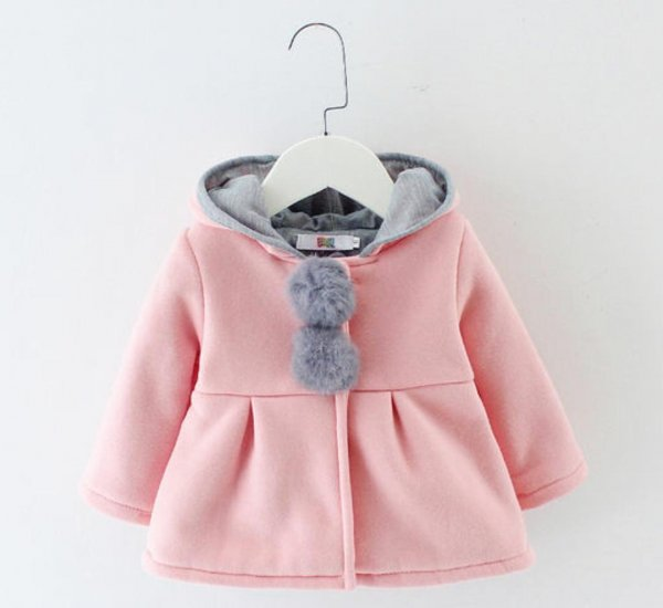Stylish Pink Hood Jacket